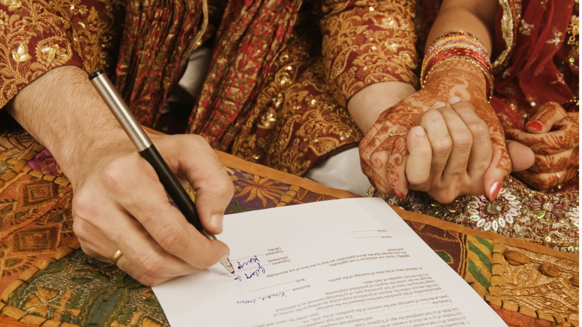 notarizing a marriage certificate