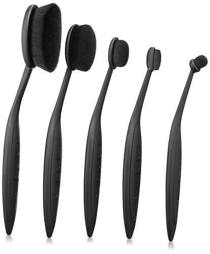 Artis Elite Black Brush Set, 5 Count