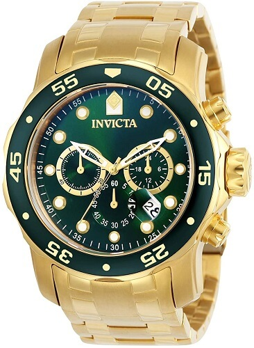 Invicta Men's 0075 Pro Diver review Chronograph 18k Gold-Plated Watch