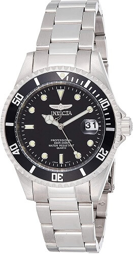 Invicta review Men's 8932OB Pro Diver Analog Quartz Silver; Dial color - Black Stainless Steel Watch