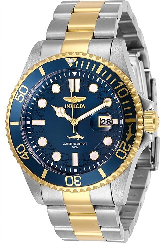Invicta watches review - Men's Pro Diver Quartz Watch with Stainless Steel Strap, Two Tone, 22